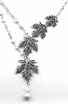 Necklace: maple leaves