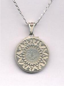 Sun pendant. White version
