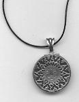 Sun pendant. Sun and Water pendant. Black version
