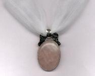 Rose Quartz Maple Forest Necklace