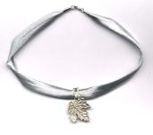 Maple Leaf Silver Choker